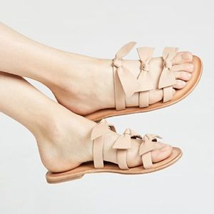 New Jeffrey Campbell Atone Leather Bow Sandals